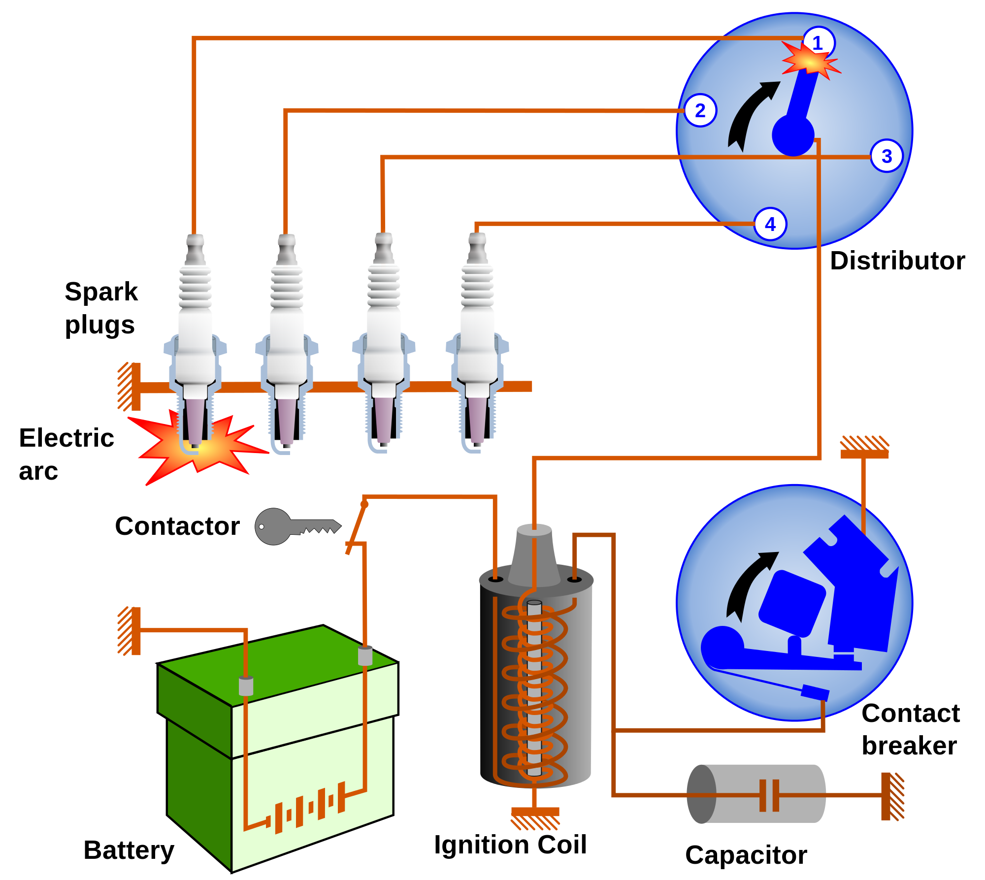 Large Ignition System on Fiat 500 Parts Diagram