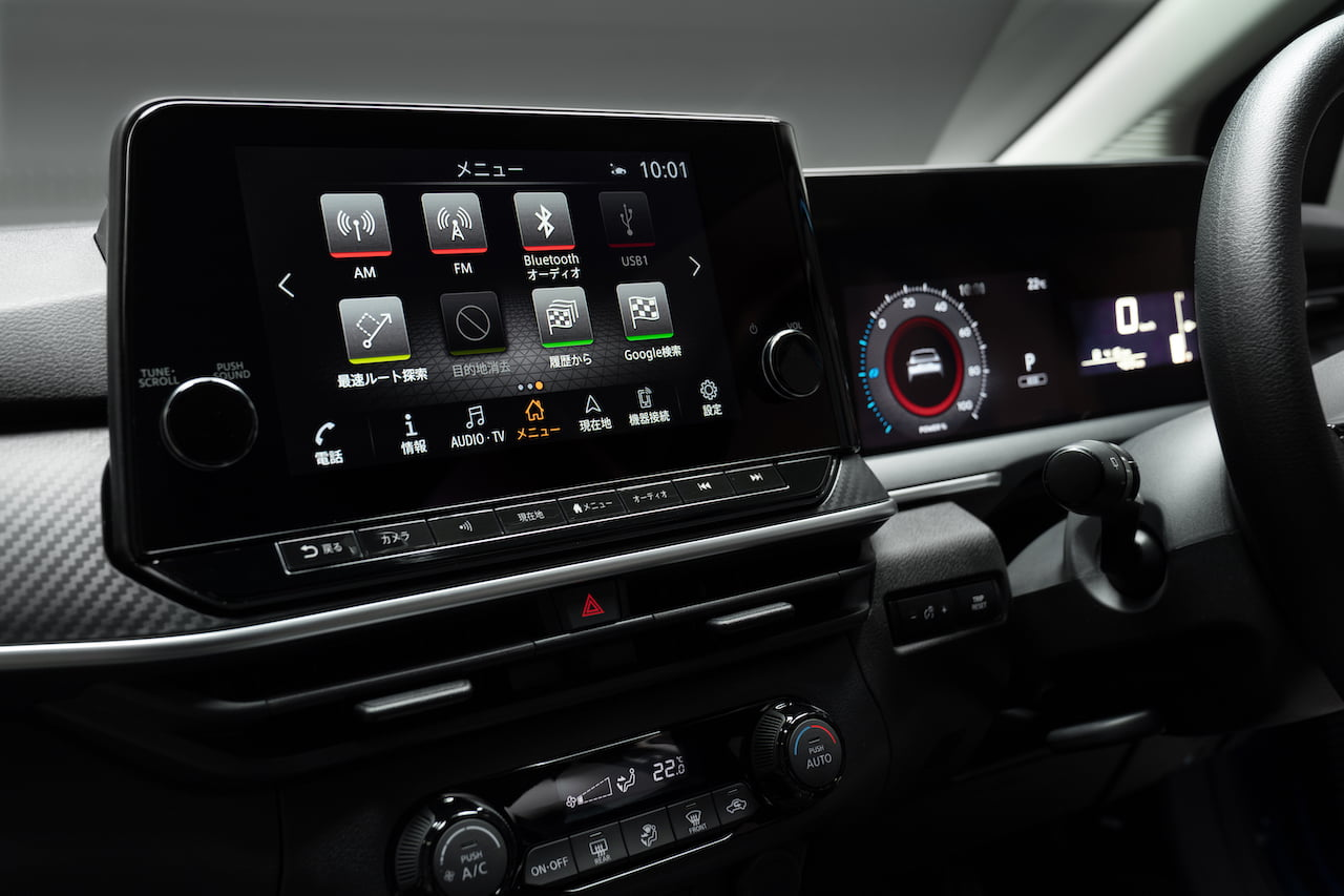 2021 Nissan Note infotainment system